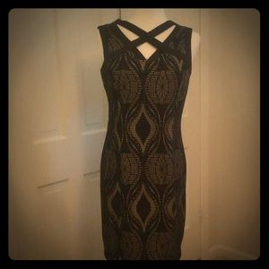 Gorg Navy illusion dress NWT 8
